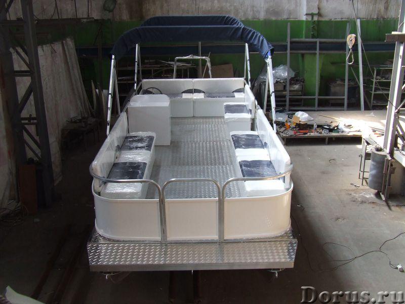 """Понтонный катер-катамаран """"Турист"""" - Водный транспорт - Понтонный алюминиевый катер-катамаран - идеа..., фото 1"""