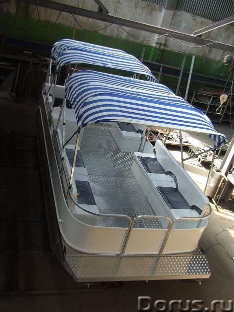 """Понтонный катер-катамаран """"Турист"""" - Водный транспорт - Понтонный алюминиевый катер-катамаран - идеа..., фото 4"""